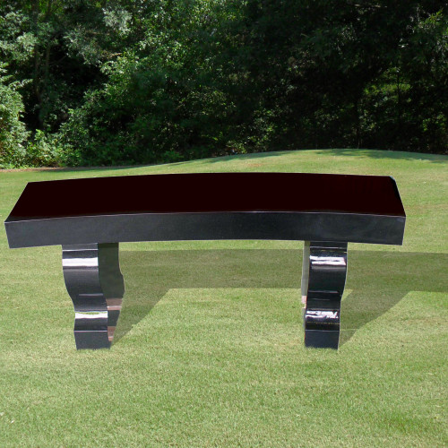 Bench with Curved Seat-Background