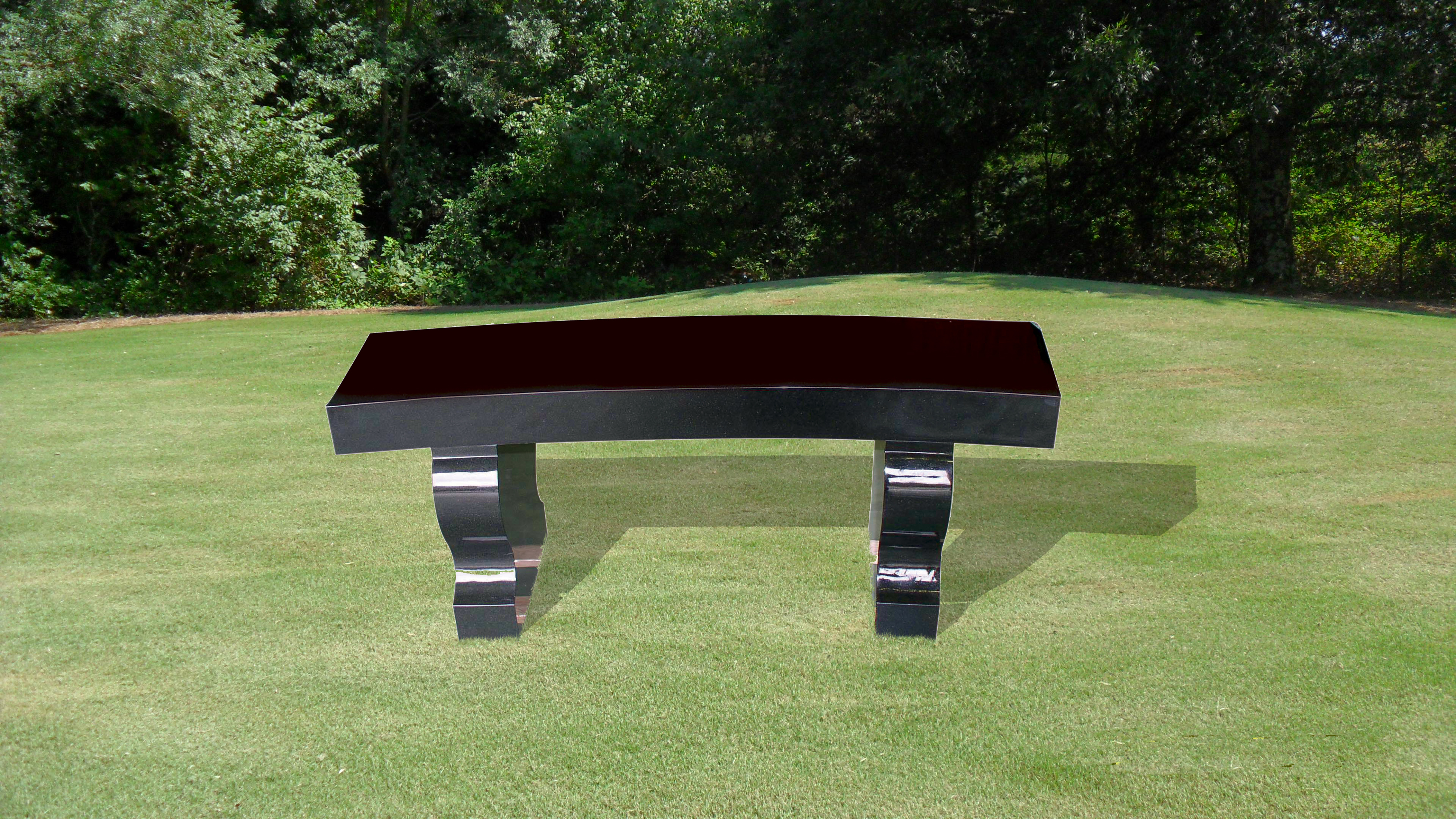 Bench with Curved Seat