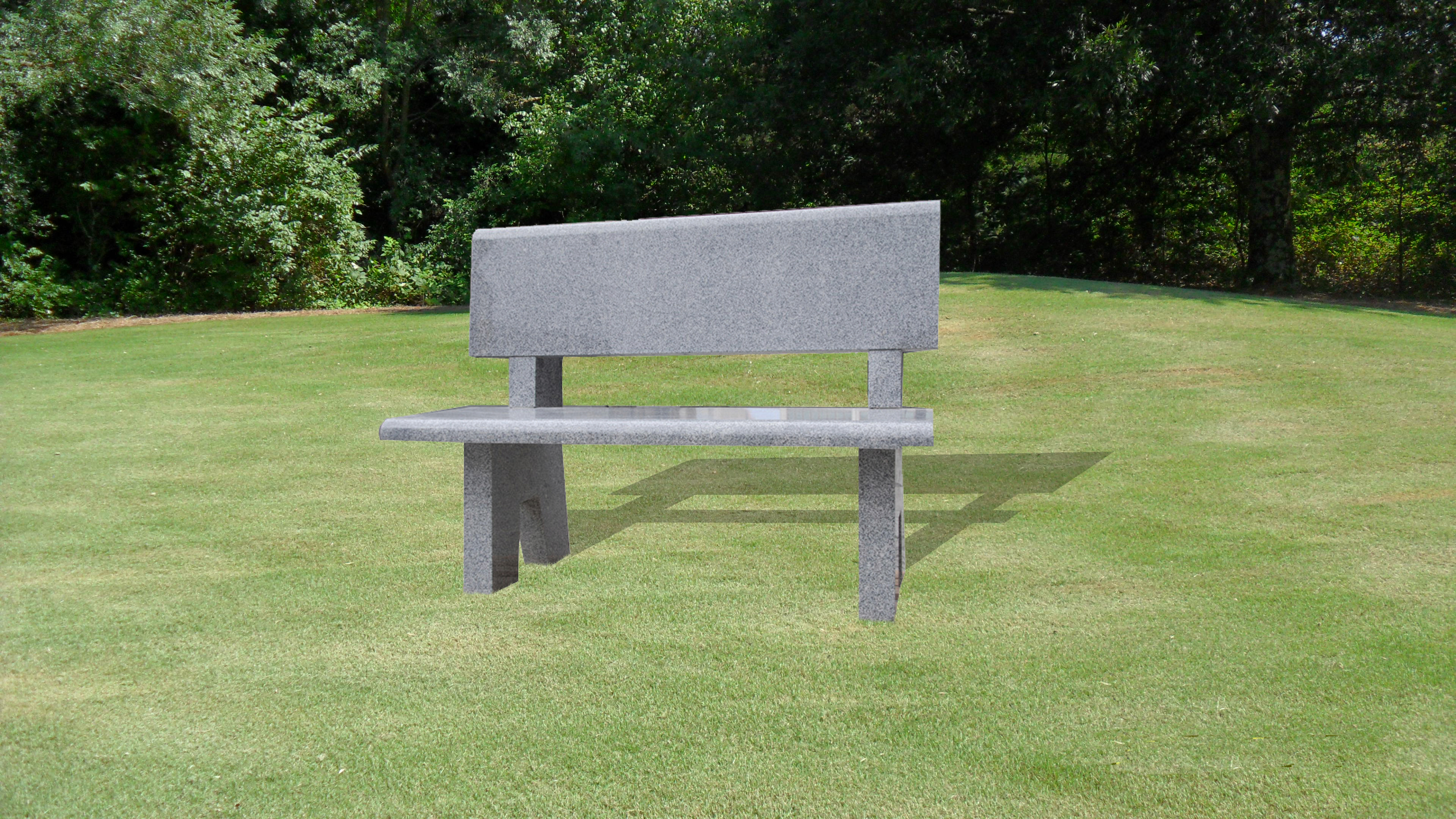 Bench with Flat Back