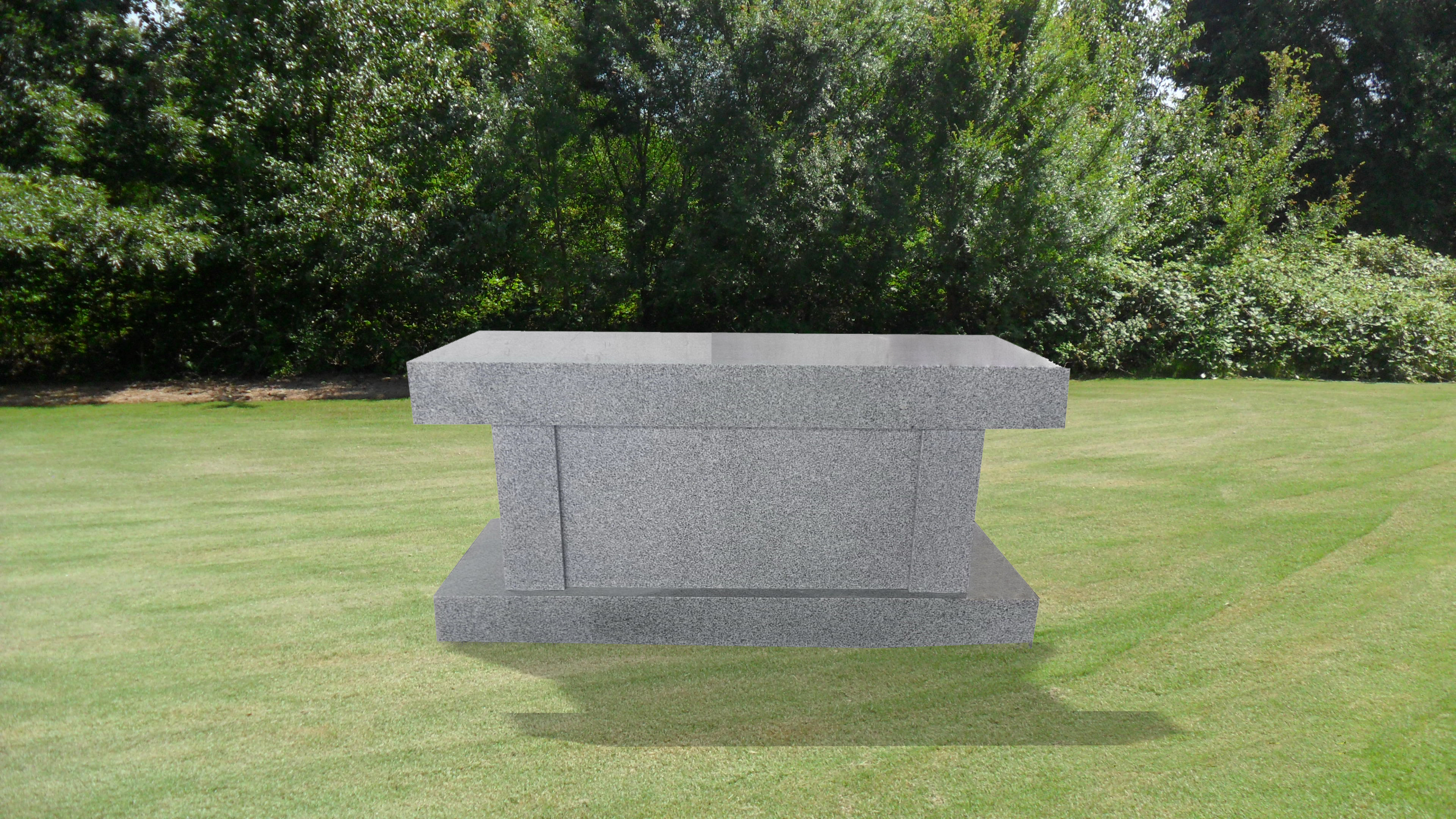 Cremation Bench with large niche
