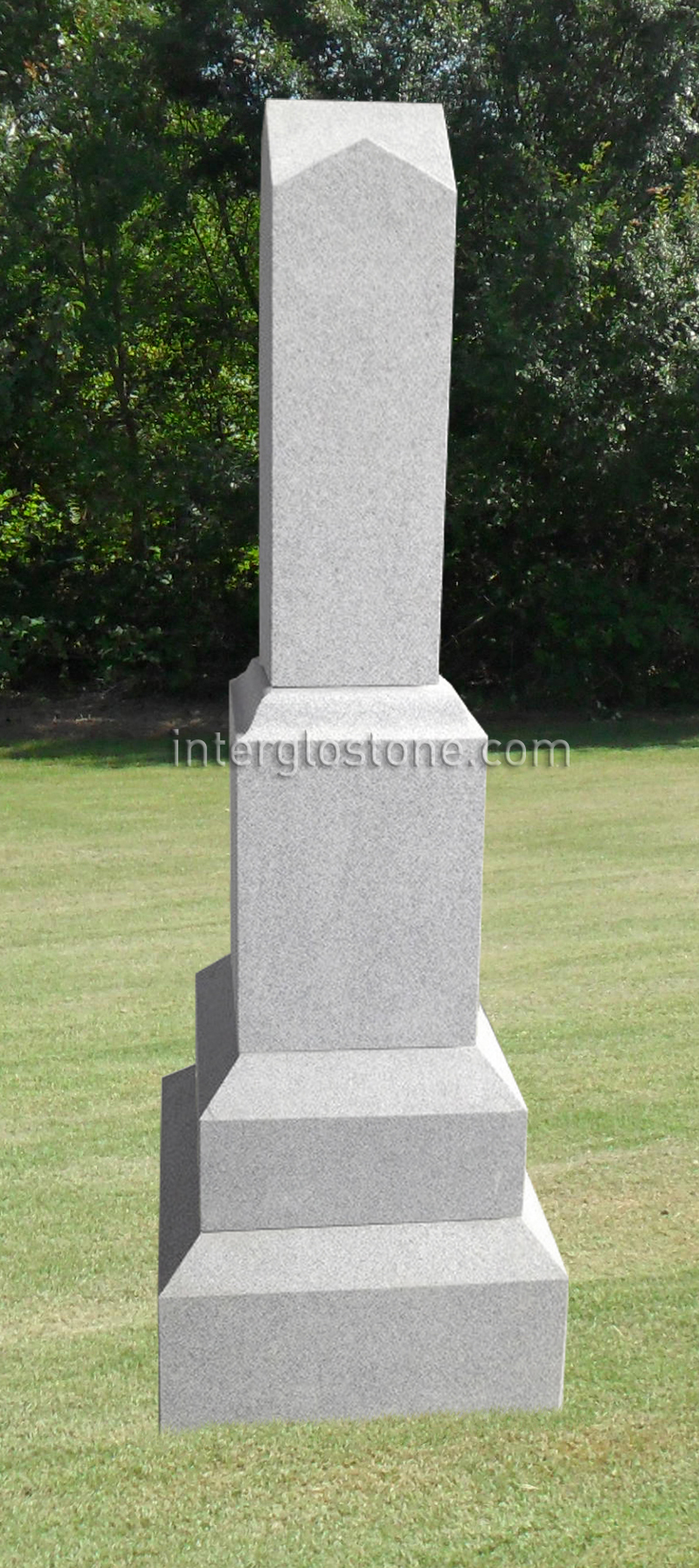 Double Roof Top Headstone