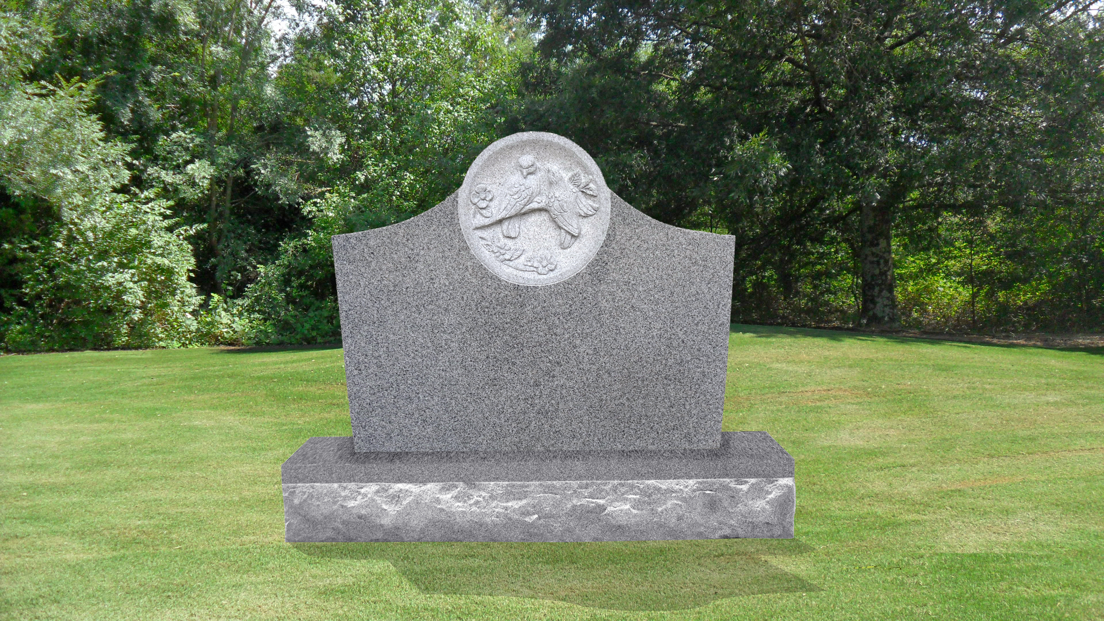 Small Dove Headstone