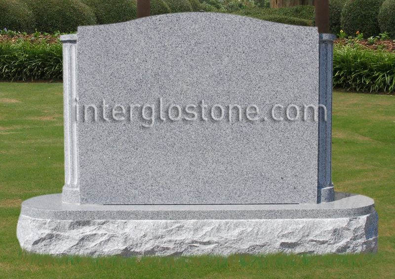 Fluted Columns Headstone