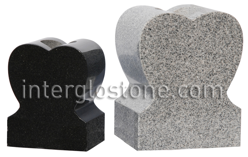 Interglo Stone Heart Vases