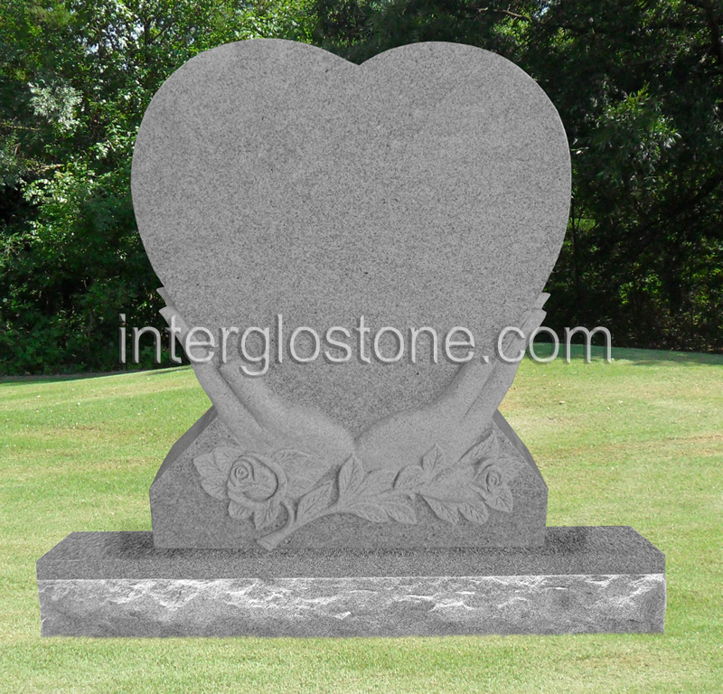 Heart in Hands Headstone