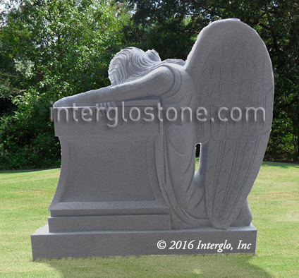 Kneeling Angel 3 Headstone