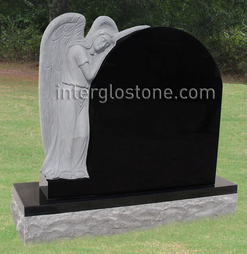Leaning Angel 2 Headstone