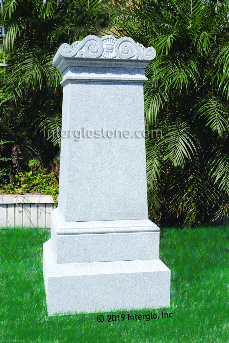 Scroll Top 1-A Headstone