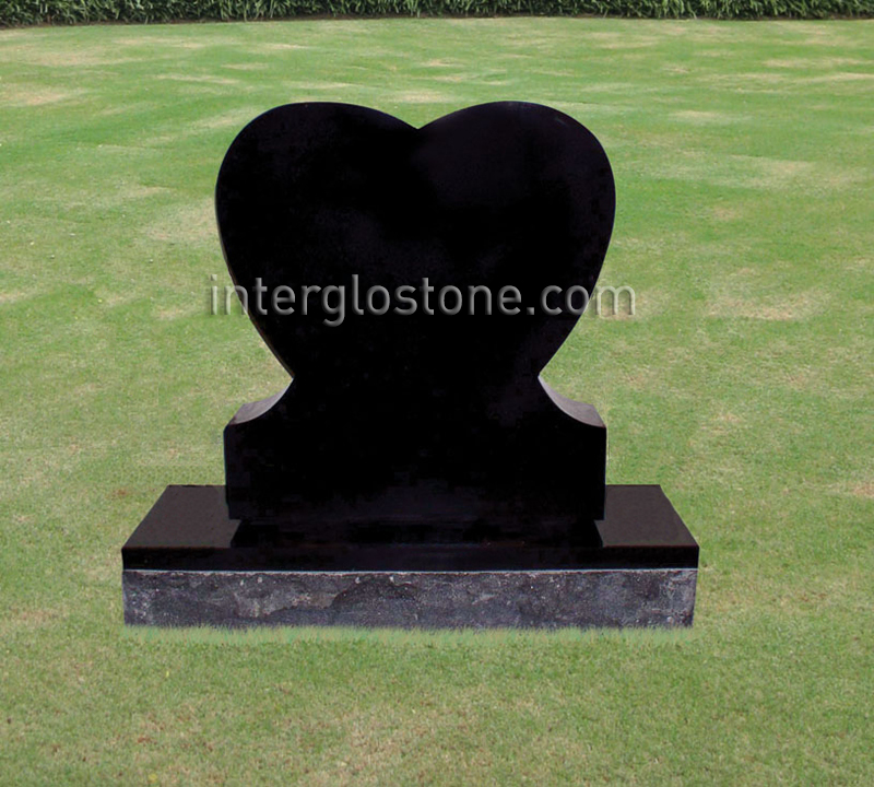Single Heart Headstone