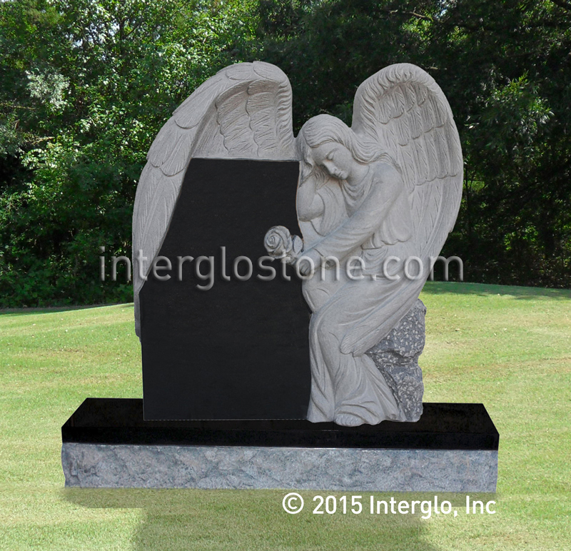 Sitting Angel 2 Headstone