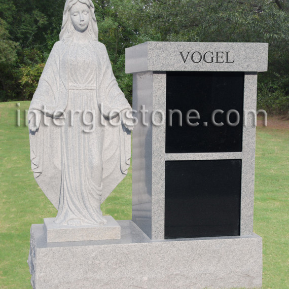 Vertical Cremation Memorial with Mary (1)web