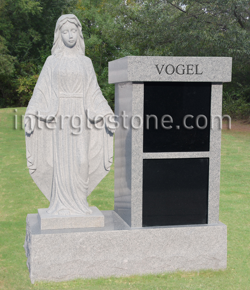 Vertical TWO NICHE Cremation Memorial
