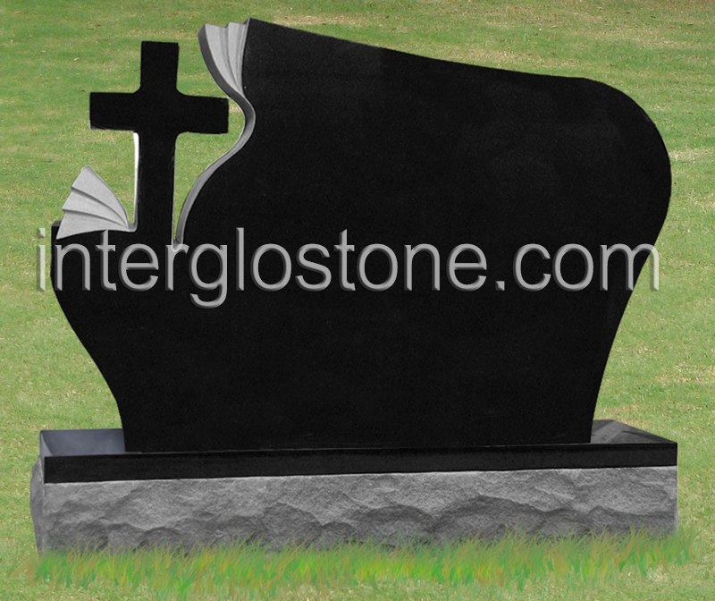 Wave with Carved Cross Headstone