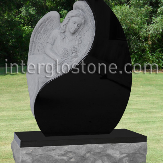 Interglo Stone Teardrop Headstones