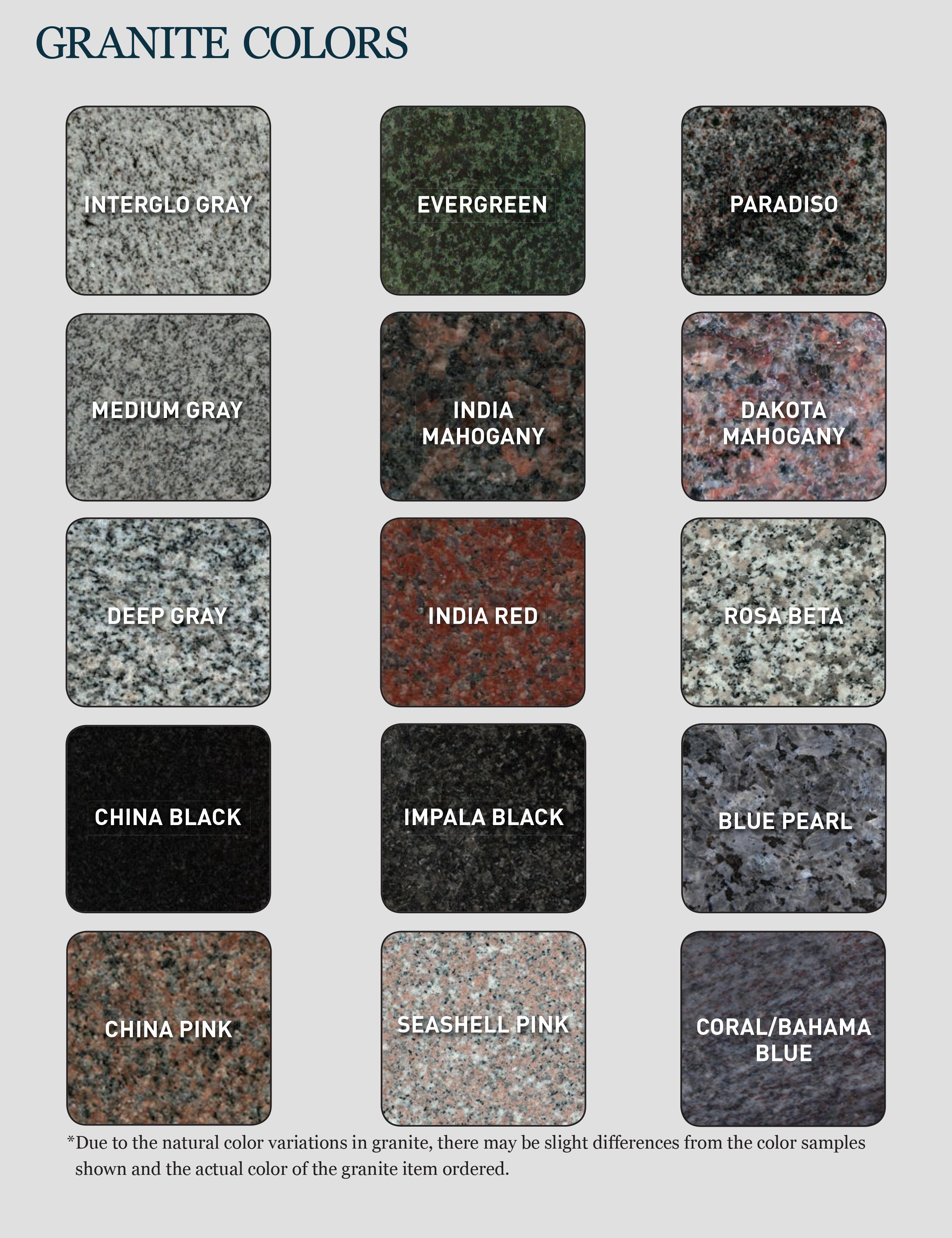 Granite Stone Colors : Interglo stone granite colors