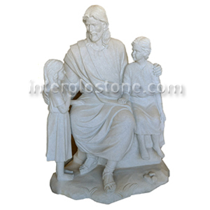 Jesus with Two Children STATUE