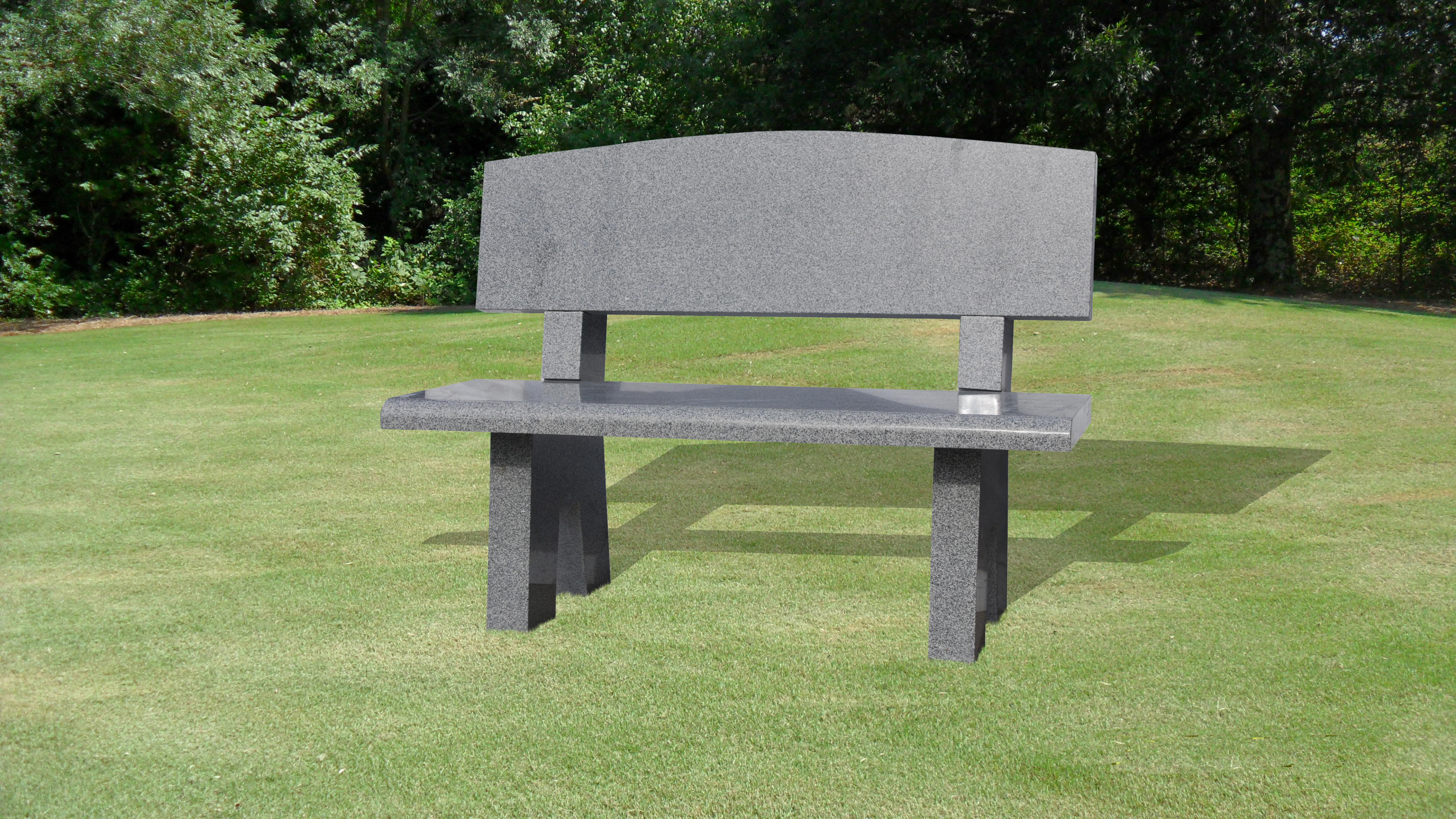 Bench with Oval Back