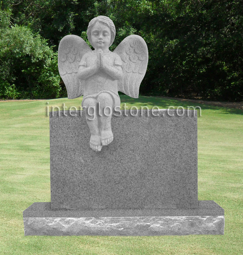 Cherub Angel Headstone