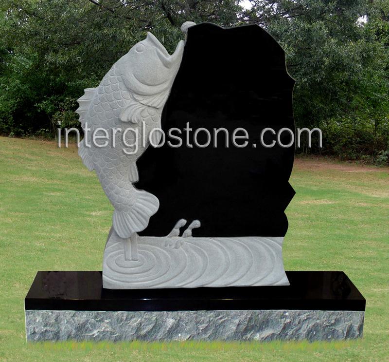 Fish Headstone