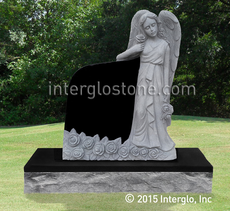 Flower Angel Headstone