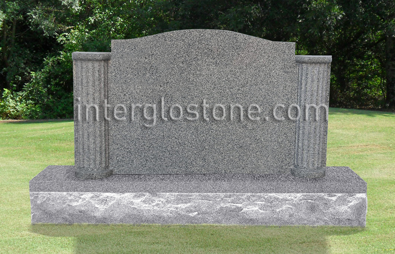 Fluted Columns 2 Headstone