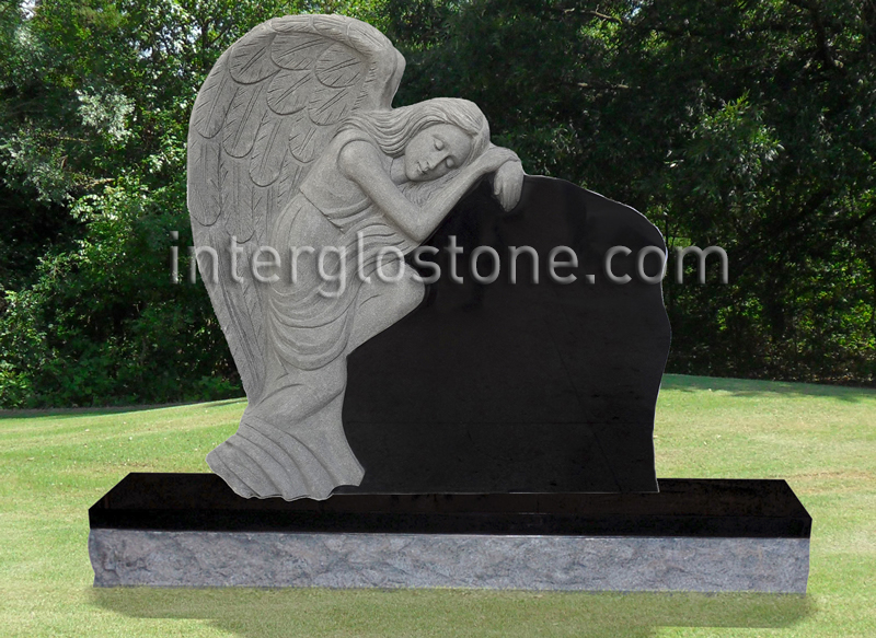 Grieving Angel 3 Headstone