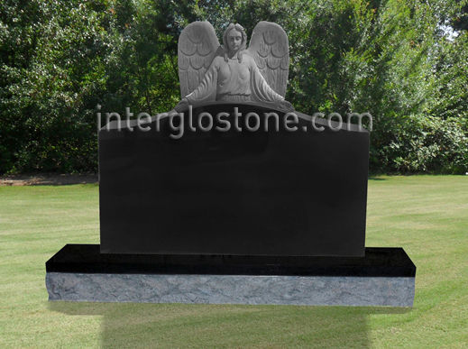 Guardian Angel 3 Headstone