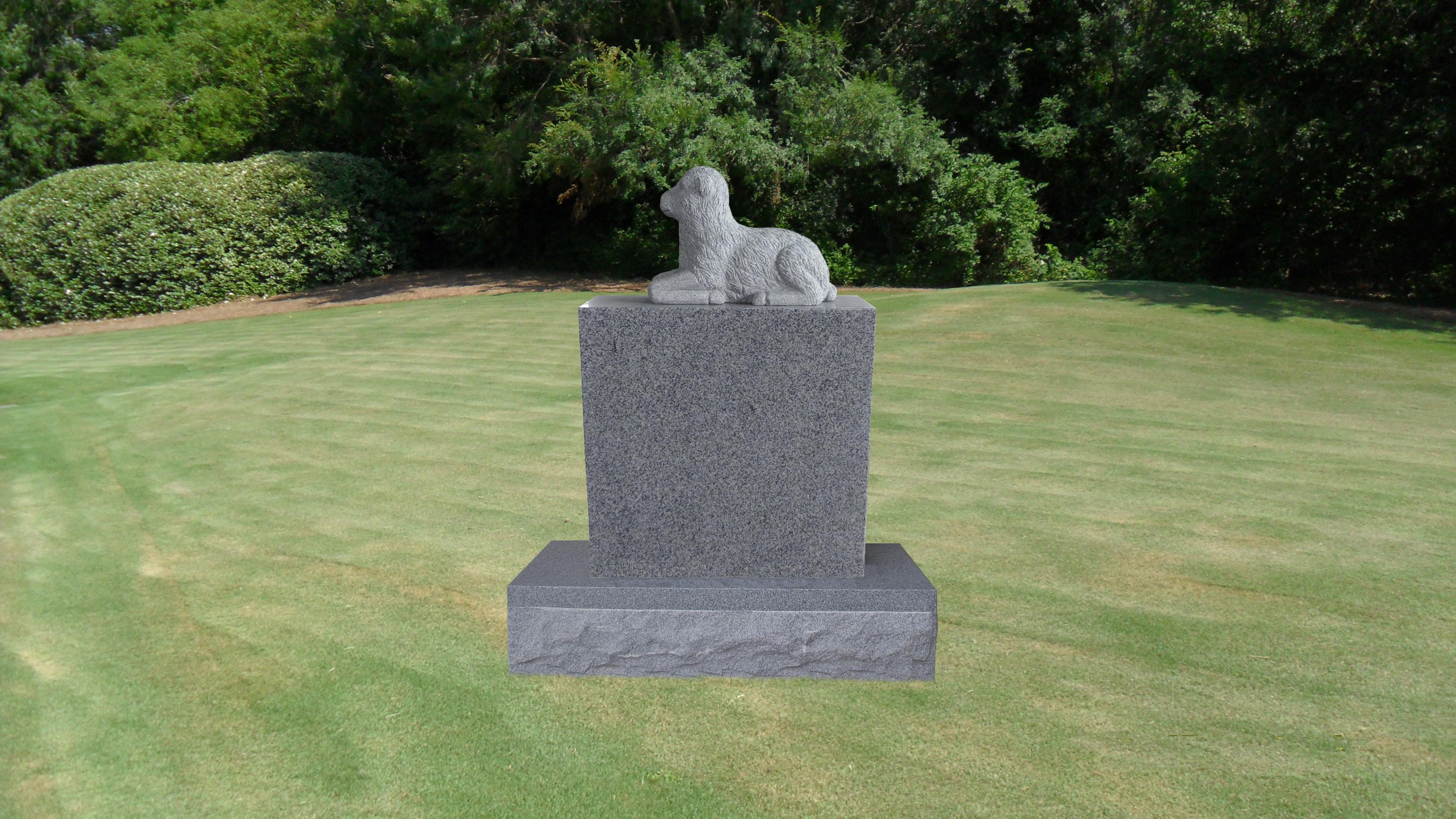 Lamb Headstone