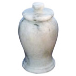 Gray Marble Turned Adult cremation Urn