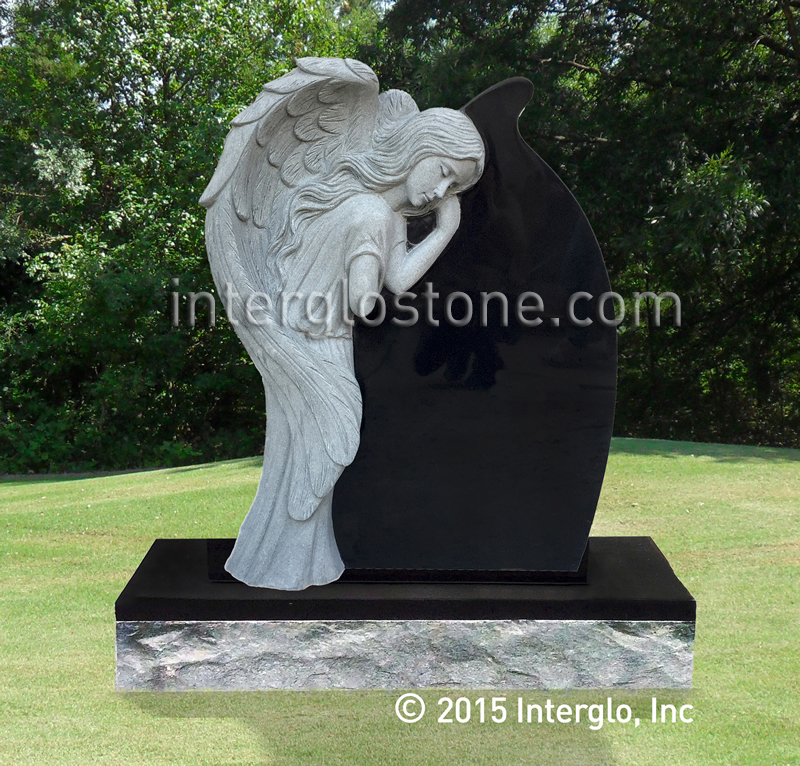 Single Angel Tear Drop 2 Headstone