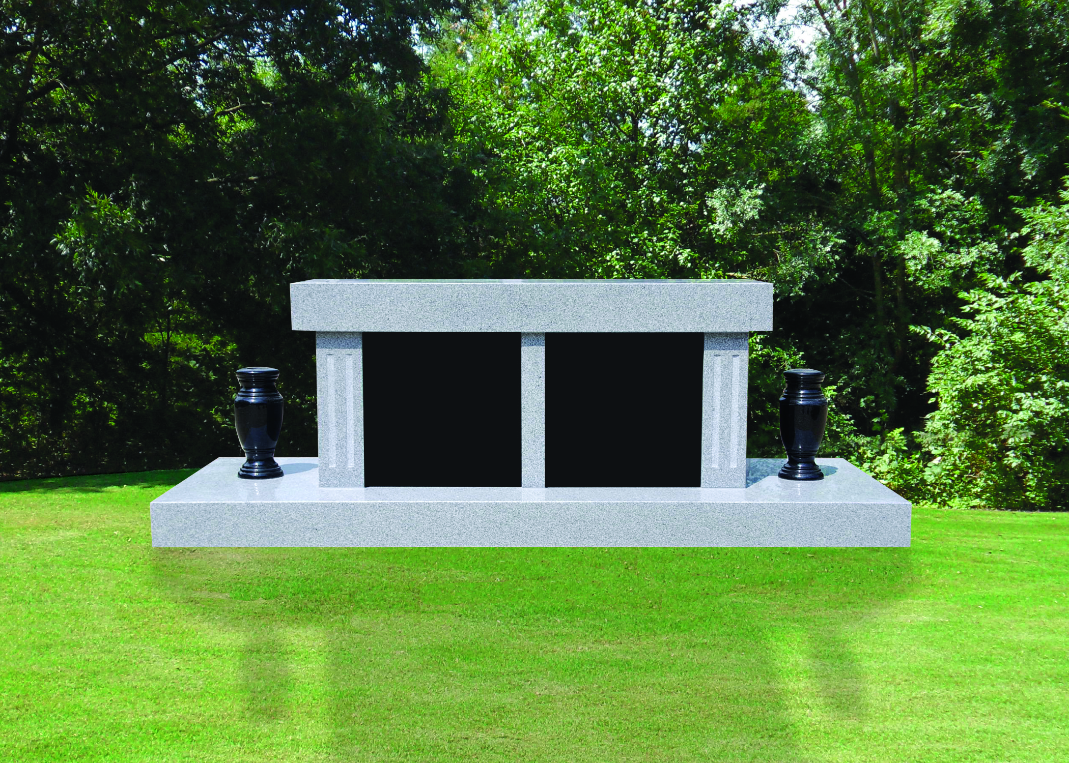 deluxe 2 Niche Cremation Bench