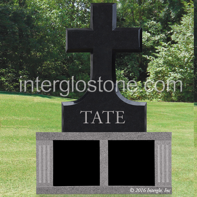 CROSS HEADSTONE ON BASE UNIT